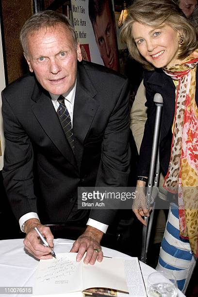 Tab Hunter with Maria Cooper Janis during Algonquin Books Launch Party For Tab Hunter Confidential at Elaine's in New York