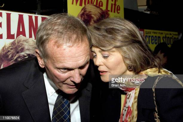 Tab Hunter with Maria Cooper Janis during Algonquin Books Launch Party For Tab Hunter Confidential at Elaine's in New York New York United States