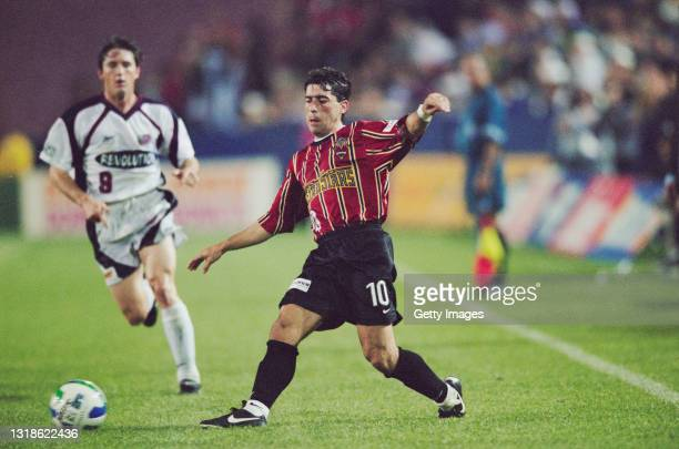 Tab Ramos, Midfielder for the New York/New Jersey Metrostars during the MLS Eastern Conference match against the New England Revolution on 26th...