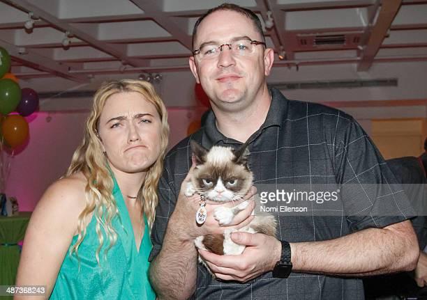 Tabatha Bundesen and Bryan Bundesen attend Grumpy Cat's Grumpiest Birthday Bash at 404 10th Avenue on April 29 2014 in New York City