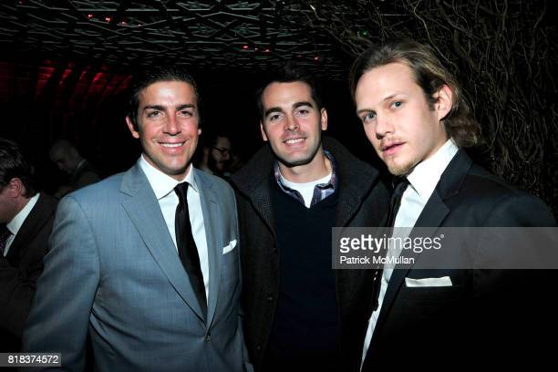 Tabber B Benedict Andrew Freesmeier and Danius Carauskas attend LAUNCH OF THE NEW MODELS HOTEL at Juliet Supper Club on February 8 2010 in New York...
