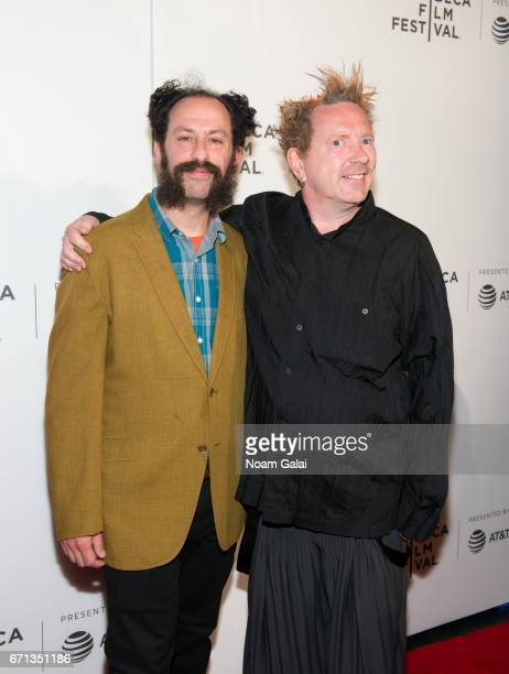Tabbert Fiiller and John Lydon attend The Public Image is Rotten Premiere during 2017 Tribeca Film Festival at Spring Studios on April 21 2017 in New...