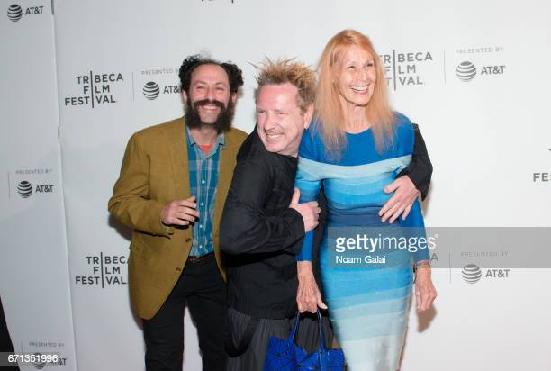 Tabbert Fiiller John Lydon and Nora Forster attend The Public Image is Rotten Premiere during 2017 Tribeca Film Festival at Spring Studios on April...