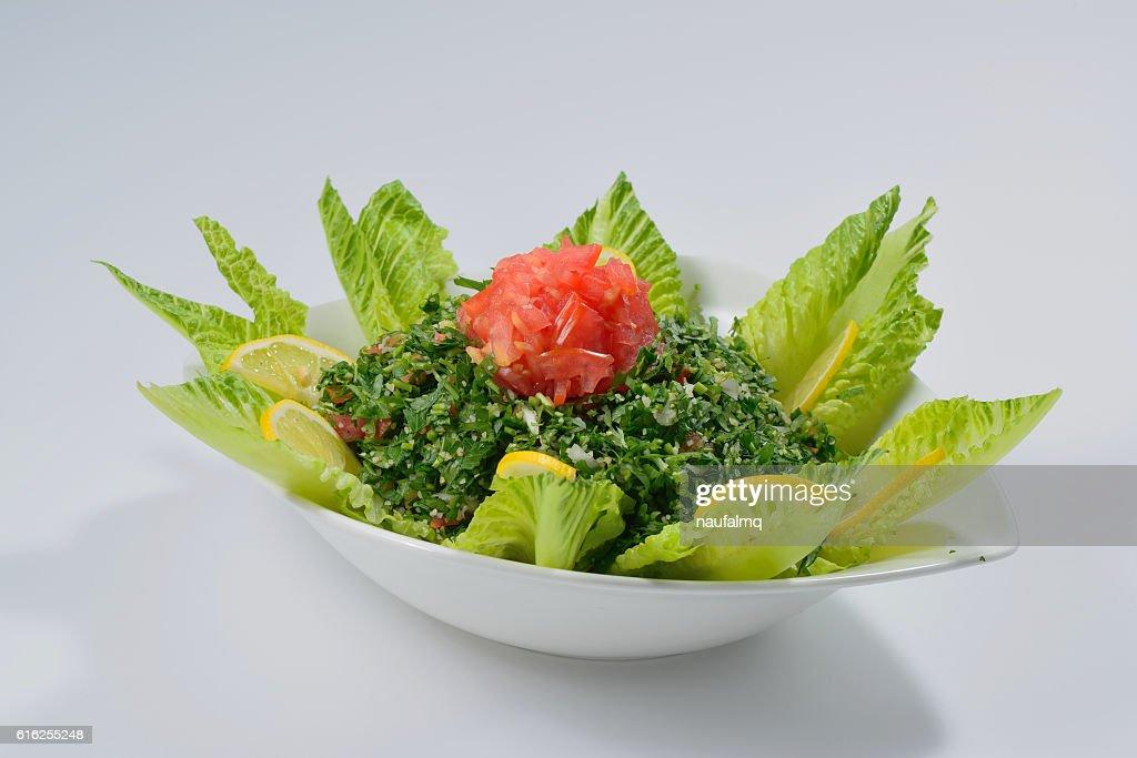 Tabbouleh arabic salad : Foto de stock