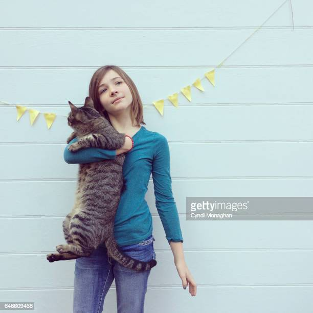 Tabby Cat and Girl