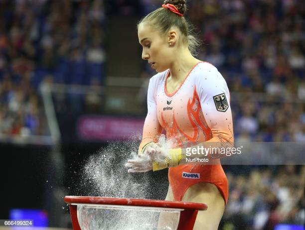 Tabea Alt during the IPRO Sport World Cup of Gymnastics at The O2 Arena London England on 08 April 2017