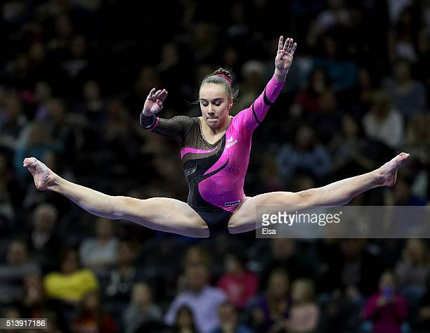 Tabea Alt of German competes on the beam during the 2016 ATT American Cup on March 5 2016 at Prudential Center in Newark New Jersey