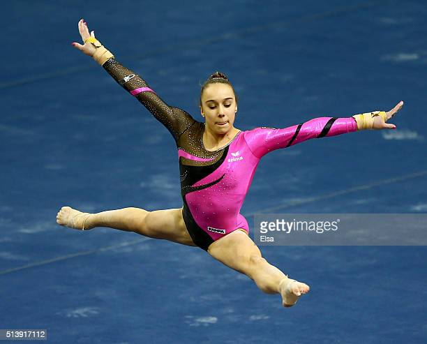 Tabea Alt of Germany competes in the floor exercise during the 2016 ATT American Cup on March 5 2016 at Prudential Center in Newark New Jersey