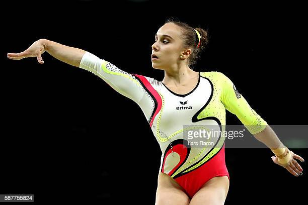 Tabea Alt of Germany competes on the balance beam during the Artistic Gymnastics Women's Team Final on Day 4 of the Rio 2016 Olympic Games at the Rio...