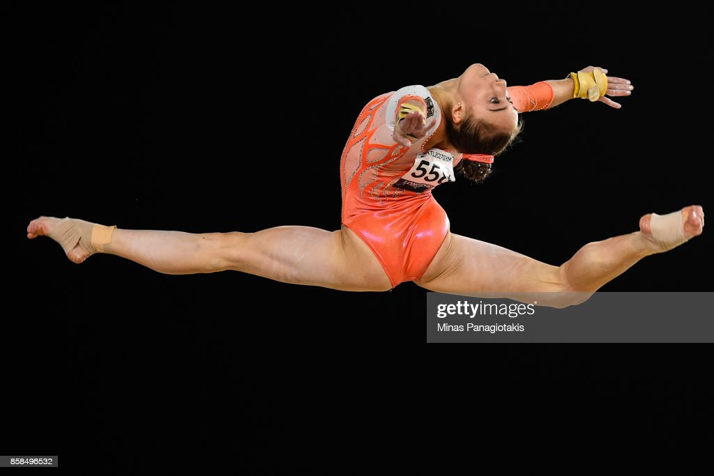 Tabea Alt of Germany competes on the floor exercise during the women's individual all-around final of the Artistic Gymnastics World Championships on October 6, 2017 at Olympic Stadium in Montreal, Canada.