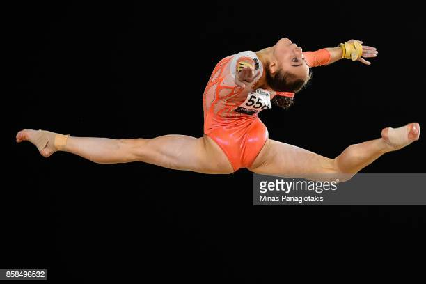 Tabea Alt of Germany competes on the floor exercise during the women's individual allaround final of the Artistic Gymnastics World Championships on...