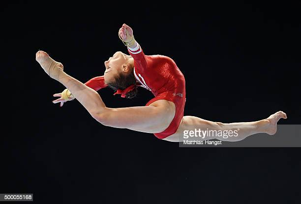Tabea Alt of MTV Stuttgart competes in the Floor during the Women's DTL Finals 2015 at Messehalle 2 on December 5 2015 in Karlsruhe Germany