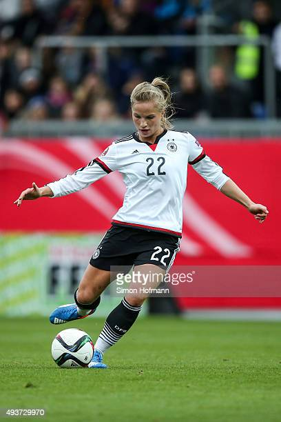 Tabea Kemme of Germany controls the ball during the UEFA Women's Euro 2017 Qualifier match between Germany and Russia at BRITAArena on October 22...