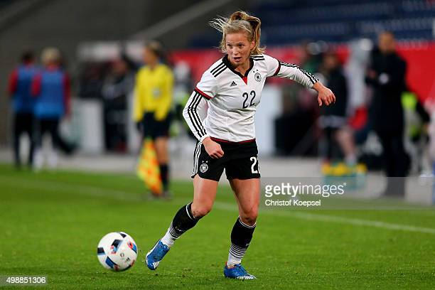 Tabea Kemme of Germany runs with the ball during the Women's International Friendly match between Germany and England at SchauinslandReisenArena on...