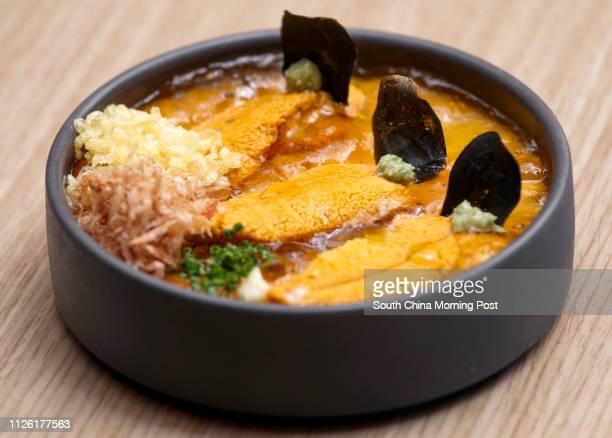 Tabibito's dishes Uni-spiked tofu, Sheung Wan. 07MAY14 [MAY2014 48Hrs FOOD]
