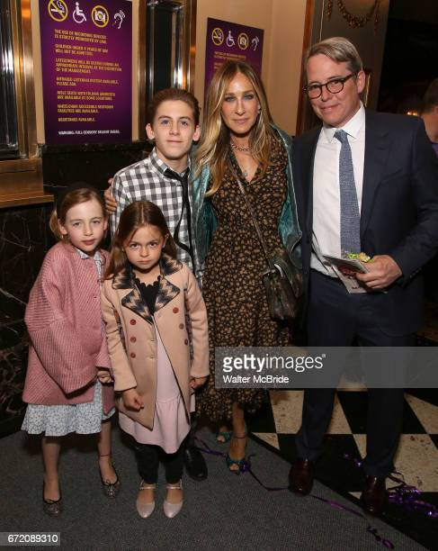 Tabitha Broderick Marion Loretta Broderick James Wilkie Broderick Sarah Jessica Parker and Matthew Broderick attending the Broadway Opening...