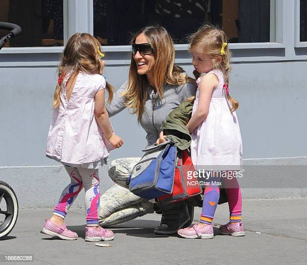 Tabitha Broderick Sarah Jessica Parker and Marion Broderick as seen on April 15 2013 in New York City