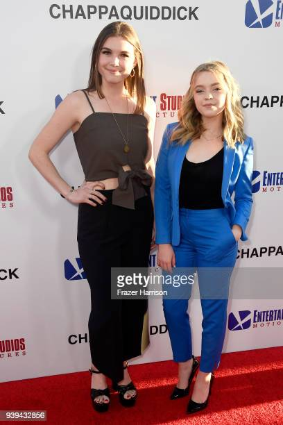 Tabitha Brownstone and Jade Pettyjohn attend the premiere of Entertainment Studios Motion Picture's 'Chappaquiddick' at Samuel Goldwyn Theater on...