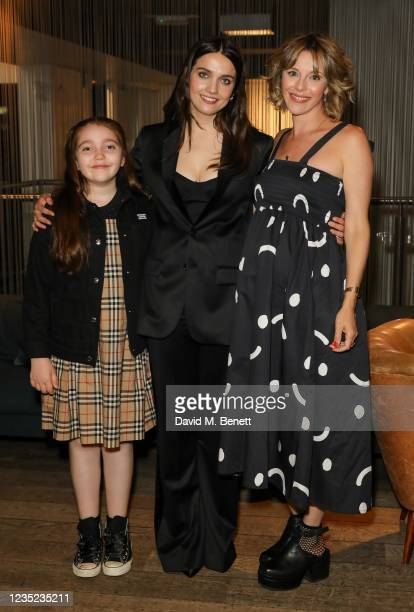 """Tabitha Byron, Nell Barlow and Sophia Di Martino attend a preview screening of """"Sweetheart"""" at the BFI Southbank on September 13, 2021 in London,..."""