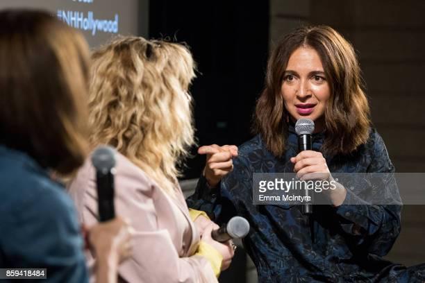 Tabitha Denholm Natasha Lyonne and Maya Rudoph speak onstage at 'Women Under the Influence hosts a special screening of Natasha Lyonne's directorial...