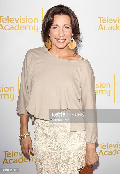 Tabitha D'umo arrives at Television Academy's Directors Peer Group choreographers celebration held at Leonard H Goldenson Theatre on August 10 2014...