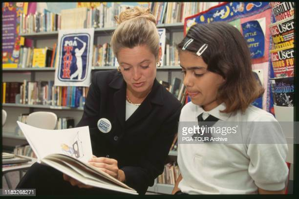 Tabitha Furyk Reading to Participant Links to Literacy May Photo by Stan Badz/PGA TOUR Archive via Getty Images