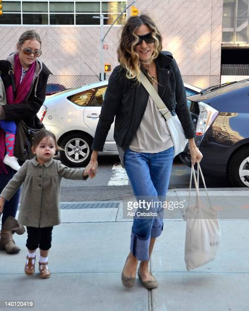 Tabitha Hodge Broderick and Sarah Jessica Parker are seen at Streets of Manhattan on February 28, 2012 in New York City.