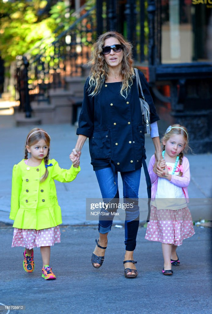 Tabitha Hodge Broderick, Sarah Jessica Parker and Marion Loretta Elwell Broderick are seen on September 23, 2013 in New York City.