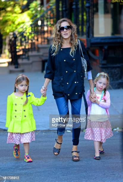 Tabitha Hodge Broderick Sarah Jessica Parker and Marion Loretta Elwell Broderick are seen on September 23 2013 in New York City