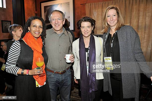 Tabitha Jackson Christopher Stone Melissa Schiff Soros and Keri Putnam attend the Foundations Reception at Zoom Restaurant during the 2014 Sundance...