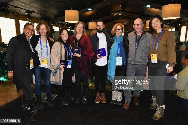 Tabitha Jackson Kristin Feeley Marilyn Ness Katy Chevigny Sev Ohanian Michelle Satter Bob Berney and Anne Lai at the Producers Brunch Presented By...