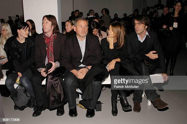 Tabitha Simmons Craig McDean Fabien Baron Carine Roitfeld and Olivier Lallane attend CALVIN KLEIN COLLECTION Fall 2007 Fashion Show at Calvin Klein...