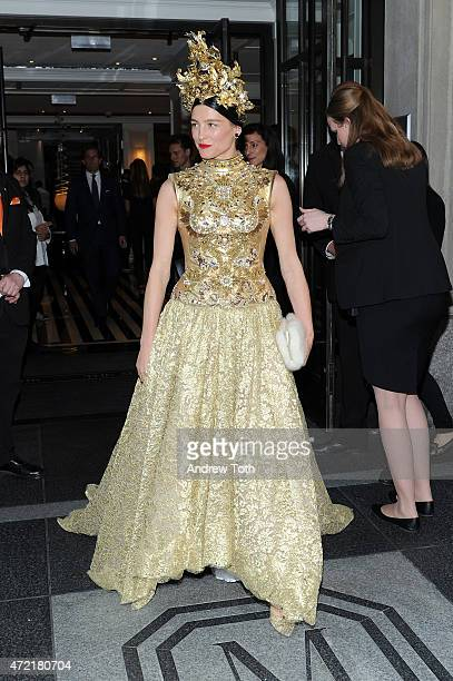 60 Top Met Gala 2015 Departures From The Mark Hotel Nyc Pictures