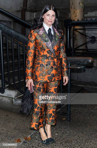 Tabitha Simmons is seen arriving to Marc Jacobs SS19 fashion show during New York Fashion Week at Park Avenue Armory on September 12 2018 in New York...