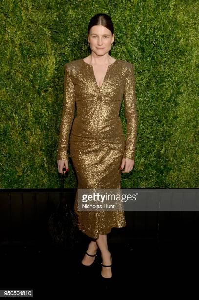 Tabitha Simmons wears CHANEL at the CHANEL Tribeca Film Festival Artists Dinner at Balthazar on April 23 2018 in New York City