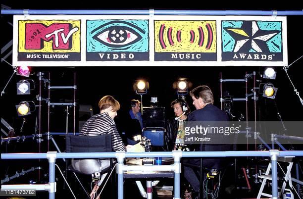 Tabitha Soren and Kurt Loder at the 1991 MTV Video Music Awards at in Los Angeles California