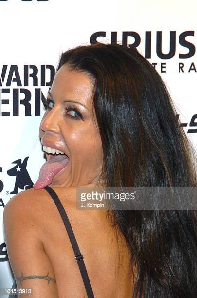 Tabitha Stevens during Howard Stern Farewell KRock Radio Broadcast Arrivals at Hard Rock Cafe Times Square in New York City New York United States