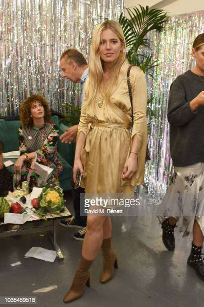 Models pose at the RIXO London presentation during London Fashion Week September 2018 at on September 18 2018 in London England