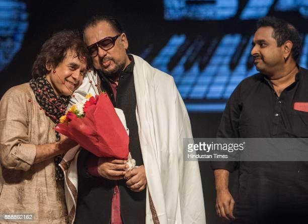 Tabla maestro Ustad Zakir Hussain felicitates Jazz Legend Louiz Banks with Shankar Mahadevan for completing 75 years in Musical journey at...