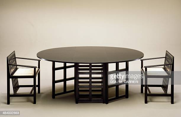Table and chairs 19031905 by Charles Rennie Mackintosh United Kingdom 20th century