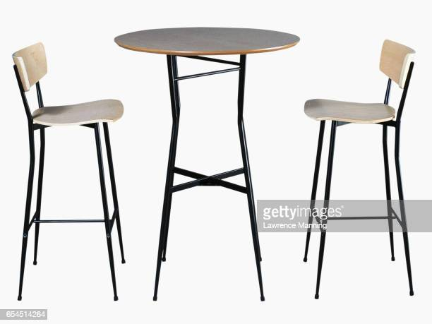 table and chairs - three objects stock pictures, royalty-free photos & images