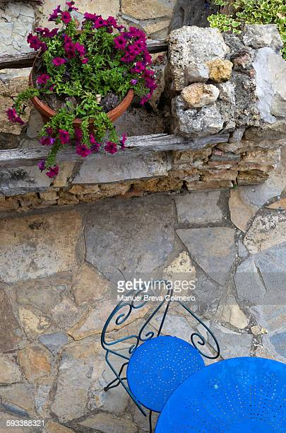 Table and floor on the terrace