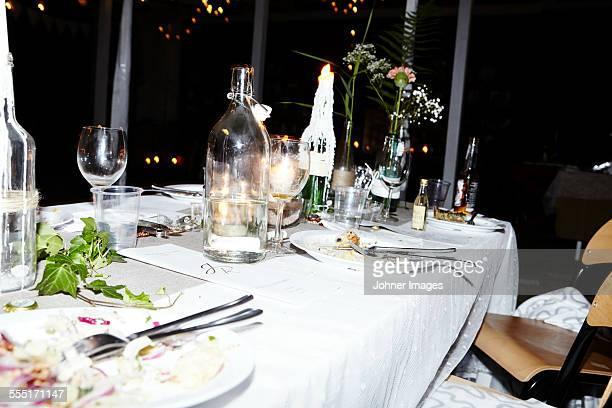 Table at wedding reception