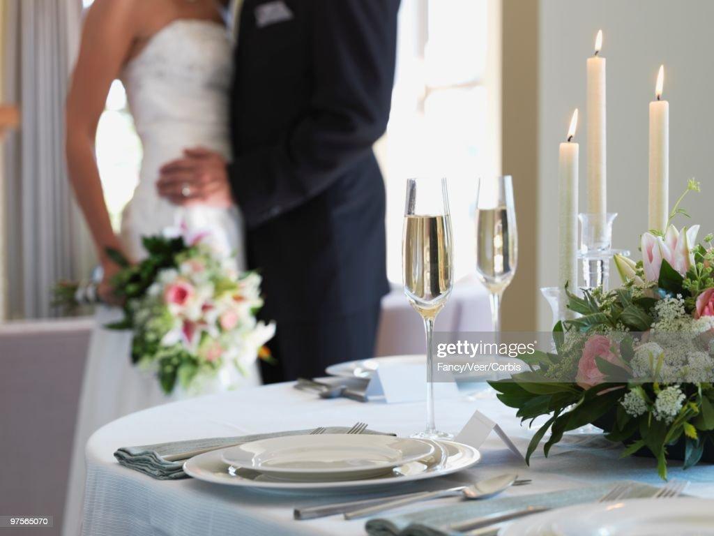 Table at wedding reception : Foto de stock