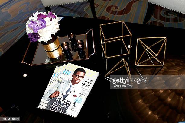 Table decor at the 2016 ESSENCE Black Women In Hollywood awards luncheon at the Beverly Wilshire Four Seasons Hotel on February 25 2016 in Beverly...