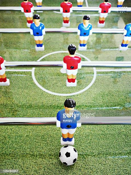 Table football close up