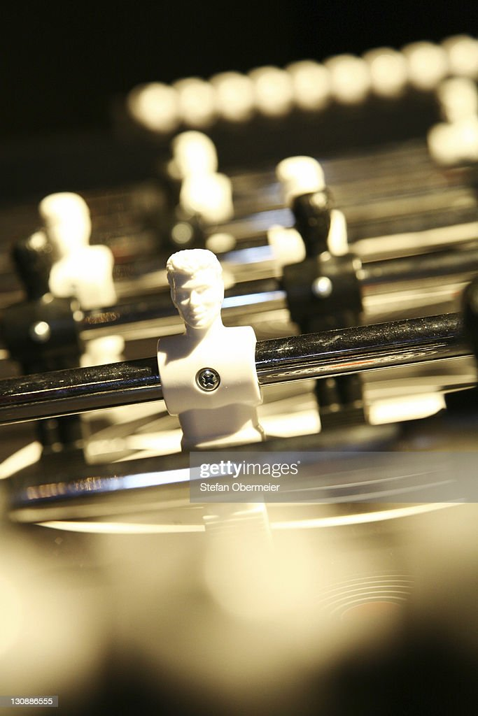 Table football game kicker : Stock Photo