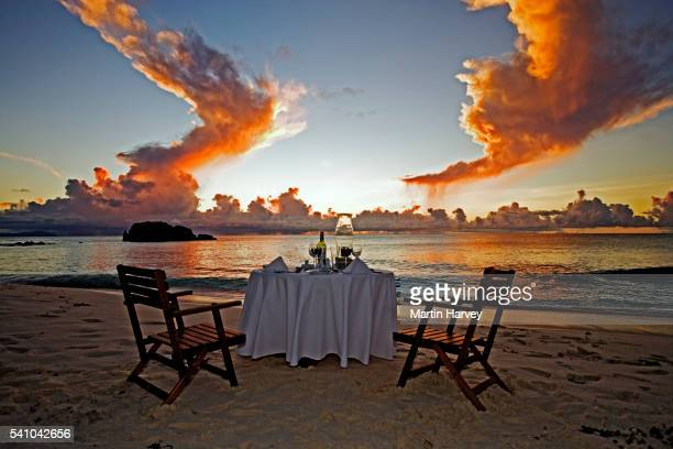 Table for Two on Beach
