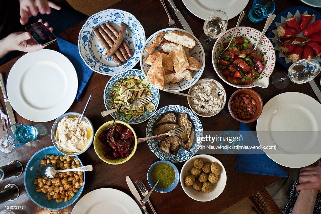 Table full of Mezze : Stock Photo