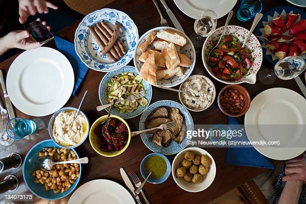 Table full of Mezze